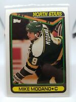 1990-91 Topps North Stars Hockey Card #348 Mike Modano Rookie Mint Condition