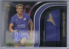 Andy King 2015 Topps EPL Premier Gold Black Jumbo Autograph Jersey Patch #5/25