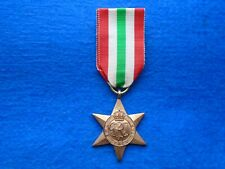WWII THE ITALY STAR MEDAL  & RIBBON FULL SIZE REPLACEMENT QUALITY REPRO