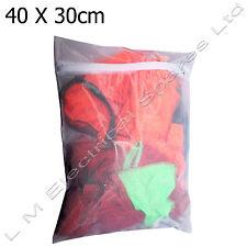 Washing Machine Tumble Dryer Washable Zipped Mesh Laundry Bag 40cm x 30cm