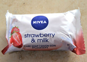 NIVEA Strawberry & Milk  Pflegeseife 90 gr. - Neu