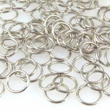 100 runde Biegeringe 8mm Binderinge 1mm silberfarben Verbinder zum Basteln -620