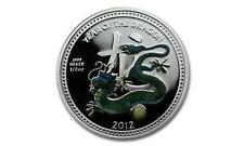 Niue 2012 $2 Lunar Year of the Dragon - Pearl Dragon 1/2 Oz Silver Proof Coin