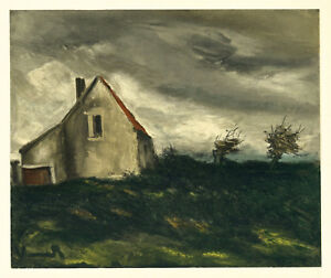 """Maurice Vlaminck """"the House on the Plain"""" lithograph by Mourlot"""