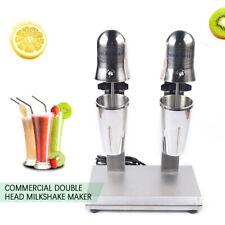 Commercial 2 Head Milkshake Mixer Drink Milk Shake Machine Stainless Steel 560w
