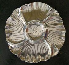 Rare Vintage 1979 Arthur Court Design Wood Poppy Flower Aluminum Charger Platter