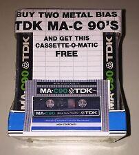 2 RARE vintage 1979 TDK MA-C90 in Cassette-o-matic storage case metal bias Tape
