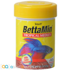 Tetra Betta Flake Medley BettaMin 0.81 oz Fish Food with Color Enhancers
