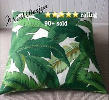 Indoor/Outdoor Tommy Bahama 60cm Green/White Swaying Palm Leaf Cushion Cover