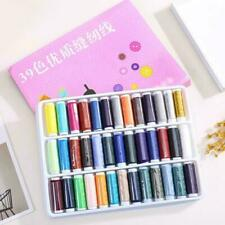 39Pcs 200 Yard Mixed Colors Polyester Spool Sewing Thread Machine For Hand B0N8