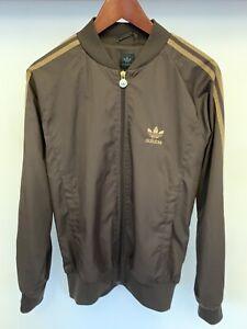 Adidas Originals Size S Jacket Windbreaker TT Tracksuit Rare Brown Gold Vtg