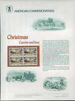 #1551 10c Currier & Ives Christmas USPS Cat. # 41 Commemorative Stamp Panel