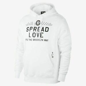 Nike Sportswear X Brooklyn Nets Big Verbiage Hoody CV0184 100 SZ XXL White