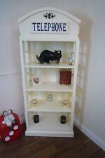 Telephone Box Bookshelves In Cream - Handmade Telephone Box Display Cabinet