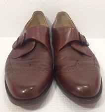 Johnston Murphy Pantera Brown Buckle Shoes Wingtip Mens 11