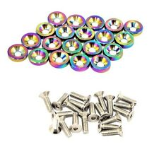 Neo Chrome 20PC Aluminum Fender Bumper Washer Screw Bolt Engine Bay Dress up Kit