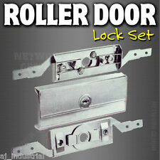 Garage ROLLER DOOR LOCK Set Complete+ Faceplate ( B&D )