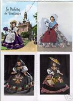 DOLLS of France 30  Vintage  Postcards ca. 1960