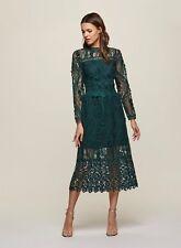 Miss Selfridge, Green Premium Lace Midi Shift Dress, UK 12, EU 40, US 8