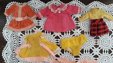 Vintage 1971 Mattel  Barbie Skipper SWEET ORANGE Velvet Dress Doll Clothes Clone