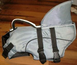 New Top Paw Frisco Shark Pet Dog Life Jacket Grey Black M 2016