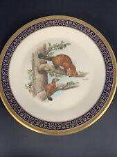"Lenox ""Martens� Boehm Woodland Wildlife Plate 1981 10 3/4"""