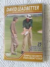 David Leadbetter's Simple Secrets For Great Golf (DVD) R-ALL, LIKE NEW FREE POST