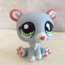 Littlest Pet Shop #1747 blue gray polar bear green eyes 9 pictures USA seller