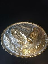 Eagle Belt Buckle In Flight Two Tone Dimensional and Detailed