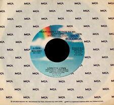 """LORETTA LYNN """"HEART DON'T DO THIS TO ME/Adam's Rib"""" MCA 52621 (1985) 45rpm"""