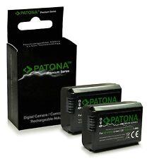 2x Batteria PATONA PREMIUM pe SONY NP-FW50 NEX-3 NEX-5 NEX-6 NEX-7 NEX-C3 NEX-F3