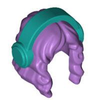 Lego Minifig Female Hair x 1 Medium Lavender with Headphones