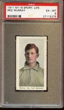 1911 M116 Sporting Life Baseball Card Red Murray PSA 6 EXMT