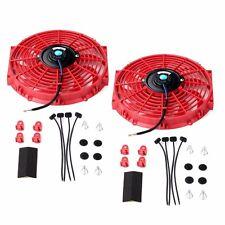 2X 12 inch Universal Slim Fan Push Pull Electric Radiator Cooling 12V Mount Kit
