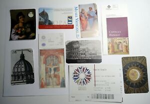 Rome Florence galleries and museums ticket stubs souvenirs