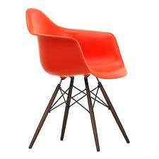 Vitra Eames Plastic Armchair Armlehnstuhl Stuhl DAW Ahorn dunkel mohnrot