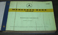 Ersatzteilkatalog Mercedes Typ 190 Db Ponton W 121 ET Katalog Stand Juni 1959!