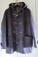 NEW Mens Gloverall of England Navy Mid Length Wool Duffle Coat UK 42 Large