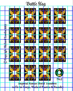 Waterslide Transfers for Warlord Games  Romans Legionary Shields (Design 5)