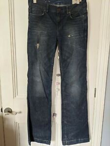 Allsaints womens jeans Size W32 L34 distressed holes grungy bootcut stretch