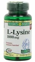 Nature's Bounty L-Lysine 1000 mg Tablets 60 Tablets (Pack of 2)