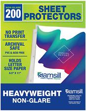Samsill Sheet Protectors Acid Free Amp Archival Safe 85 X 11 Inches Top Load
