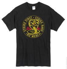 Cobra Kai T-Shirt black new Karate Kid 80's Strike hard no mercy miyagi daniel