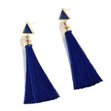 Women Bohemia Rhinestone Long Tassel Fringe Drop Dangle Earrings Fashion Jewelry