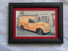 Morris Minor Van GPO Stunning Framed & Mounted Postcard **Offers**