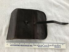 Vintage Leather Fly Fishing Pouch Case With Flies