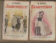 LEONE TOLSTOI RESURREZIONE VOL. 1 E 2 BIDERI EDITORE 1929