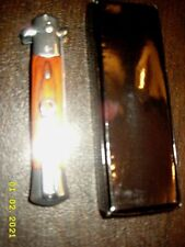 MILANO 9 inch FOLDING knife WITH BROWN WOOD HANDLE NEW IN BOX