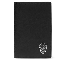 Alexander McQueen Wallet - BNWT Skull Natural Grain Leather Trifold Wallet