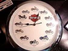 Harley Davidson Collectable Motorcycle Wall Clock With Sound
